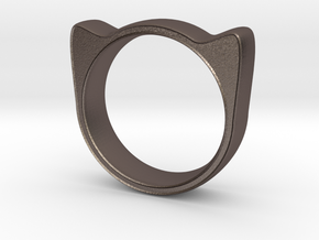 Meow ring 17mm in Stainless Steel