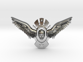 Winged Nature Pendant  in Polished Silver