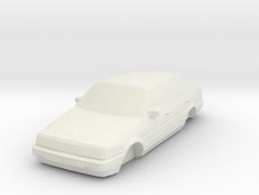 ho scale 1984-1987 toyota corolla in White Natural Versatile Plastic