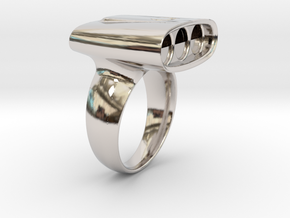 AI Series in Rhodium Plated Brass