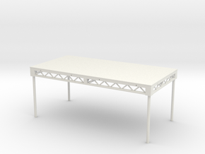 1:25 Steeldeck 8x4, with legs in White Natural Versatile Plastic