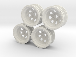 "Rim MT Classic 1/4"" offset - Losi McRC/Trekker in White Strong & Flexible"