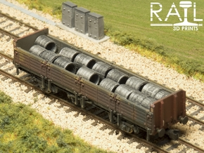 Pack of 16 N Scale Wire Coils in Frosted Extreme Detail