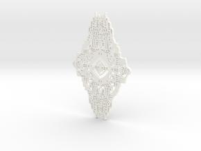 model 1  in White Processed Versatile Plastic