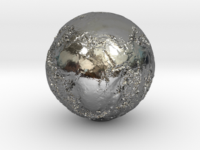 Earth Seabed in Fine Detail Polished Silver