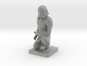 Terracotta Trooper in Metallic Plastic