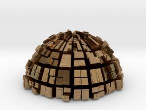 Semi-Ghost Sphere (semi sphere ghost town) in Natural Brass