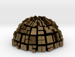 Semi-Ghost Sphere (semi sphere ghost town) in Natural Bronze