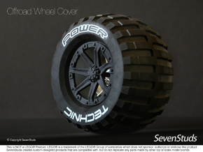 Offroad Wheel Cover 02_56mm in Black Strong & Flexible