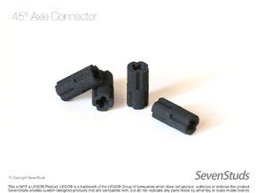 4x Axle Connectors 45 Degree in Black Natural Versatile Plastic