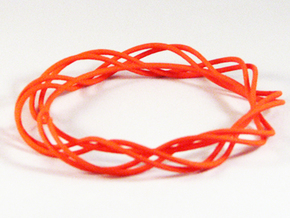Twist Bangle C01M in Orange Strong & Flexible Polished