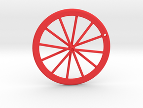 Wheel Pendant V2 in Red Strong & Flexible Polished