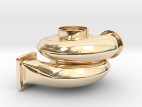 Turbo Keychain in 14k Gold Plated Brass