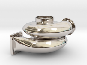 Turbo Keychain in Platinum