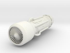 Jet Engine Keychain in White Natural Versatile Plastic