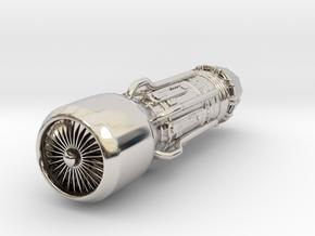 Jet Engine Keychain in Platinum