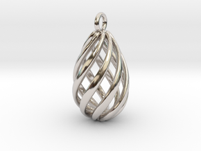 Swirl Pendant in Rhodium Plated Brass