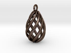 Swirl Pendant in Polished Bronze Steel