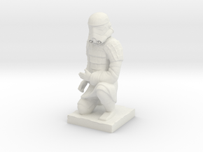 Terracotta Trooper in White Natural Versatile Plastic