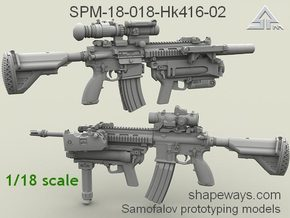 1/18 SPM-18-018-Hk416-02 HK416 HK m320 in Frosted Extreme Detail