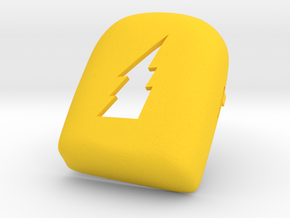 Lightning Bolt Omnipod Case in Yellow Strong & Flexible Polished