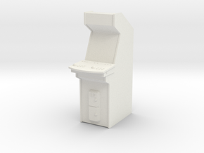Arcade Machine in White Natural Versatile Plastic