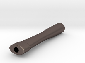 Joint Holder (Fits Cone Papers) in Polished Bronzed Silver Steel
