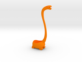 Dino - Ladle in Orange Processed Versatile Plastic