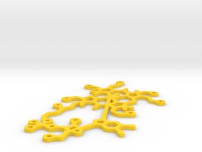 Vitamin B12 statement necklace pendant in Yellow Processed Versatile Plastic