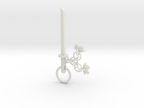 Cherry Blossom Charm Katana in White Strong & Flexible