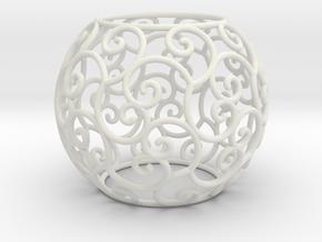 Triskel celtic sphere 2 (2,8+ring) in White Natural Versatile Plastic