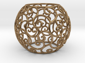 Triskel celtic sphere 2 (2,8+ring) in Raw Brass