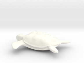 Sea Turtle Sculpture in White Strong & Flexible Polished