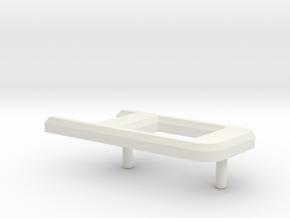 Retroën Character D in White Natural Versatile Plastic