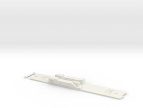 6000 Series Frame- Unpowered, Single in White Natural Versatile Plastic
