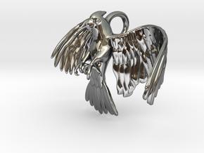 Corella Cockatoo Pendant in Fine Detail Polished Silver