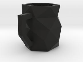 Geo Mug in Black Natural Versatile Plastic