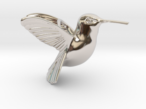 Hummingbird Pendant in Rhodium Plated Brass