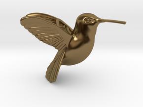 Hummingbird Pendant in Polished Bronze