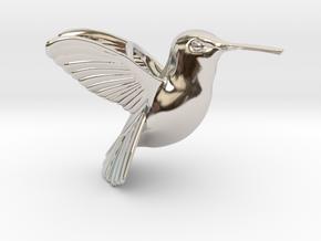 Hummingbird Pendant in Platinum