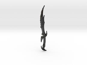 Skyrim Daedric Sword Letter Opener in Matte Black Steel