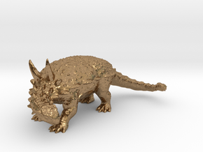Ankylosaurus museum 3D scan data collectable in Natural Brass