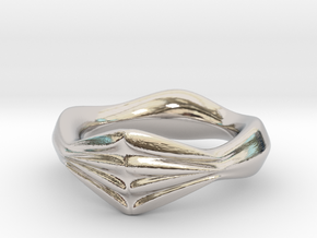 Locking Fingers Ver.1 in Rhodium Plated Brass