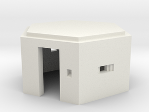 N Scale WWII Pillbox in White Strong & Flexible