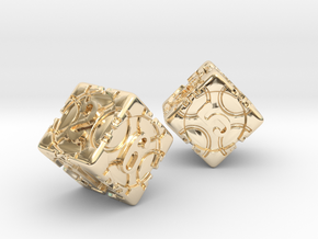 DICE 2 pack in 14K Yellow Gold