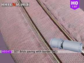 SET Brick paving with border (H0) in Smooth Fine Detail Plastic