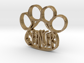 Spencer Paw Tag in Polished Gold Steel