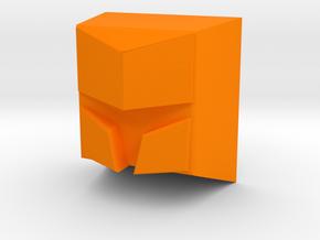 Knight helmet (Flat) in Orange Processed Versatile Plastic