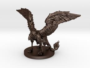 Griffon Miniature in Matte Bronze Steel