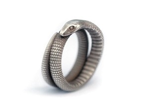Snake Ring (various sizes) in Natural Silver